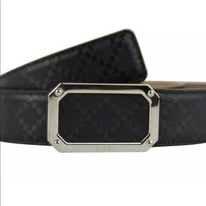 Gucci Belt Men's Black Leather Diamanté